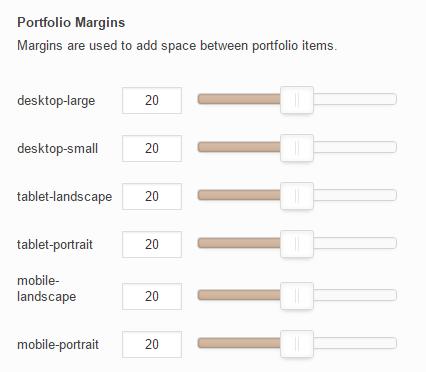Select margins